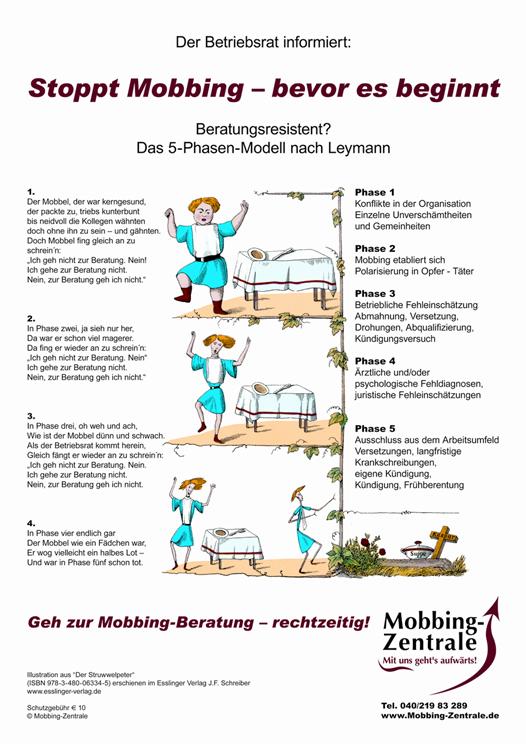 Plakat : Stoppt Mobbing bevor es beginnt