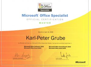 Microsoft Office Specialist Master - Certification 2009