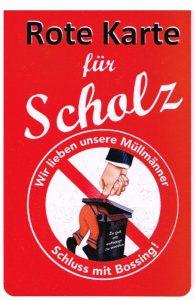 Rote Karte für Scholz